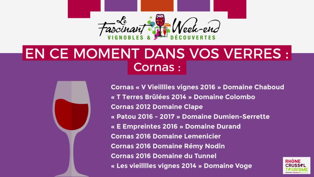 Le Fascinant Week-end - Mets et vins - Cornas