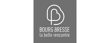 Logo Bourg en Bresse la belle rencontre noir et blanc
