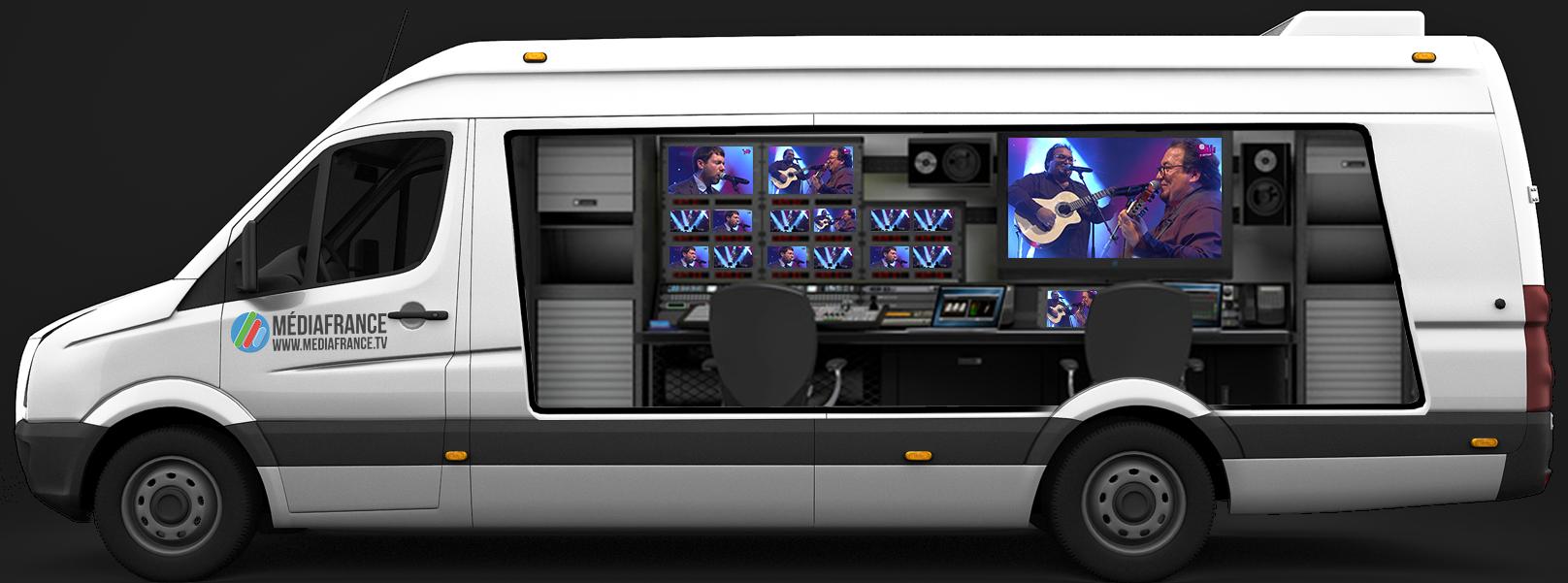 Camion régie - Captation événements multicaméra