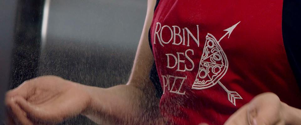 Publicité cinéma - Robin des Pizz'